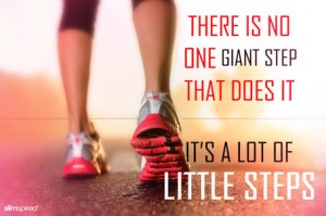 Inspiring weight loss quotes little steps